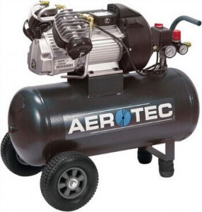 Aerotec Kompressor in der Seitenansicht.