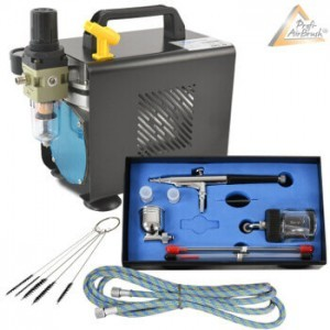 Airbrush Kompressor Set.