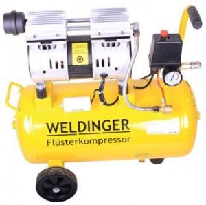 Weldinger FK90 Kompressor mit 24 l Kessel und leisem Lauf.