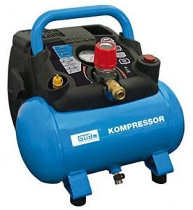Kleiner Kompressor mit 8 bar Luftdruck und 6l Kessel von Güde.