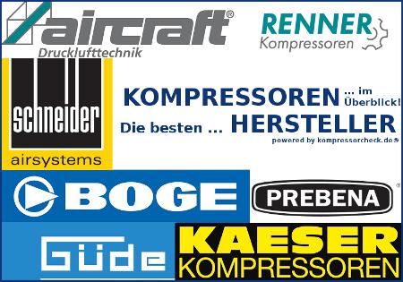 Auflistung der besten Kompressoren Hersteller.