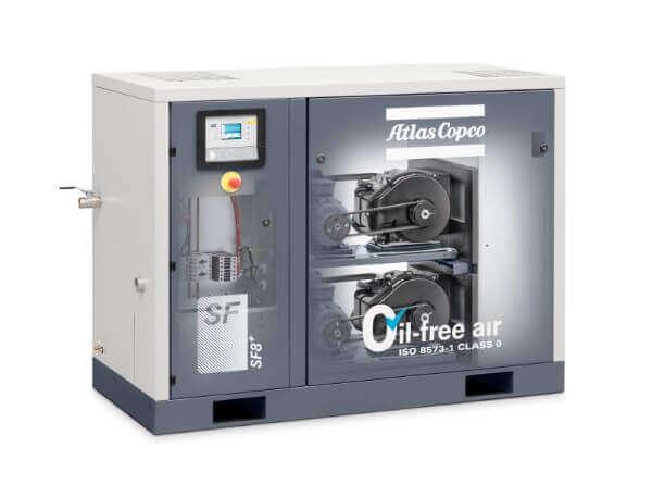Schraubenkompressor von Atlas Copco.